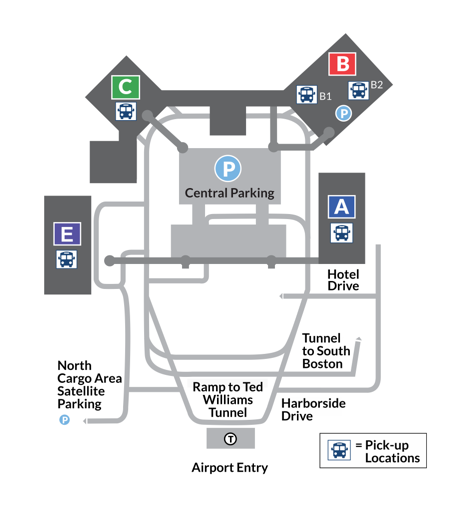 Logan Airport Terminal Map logan terminal map   C&J