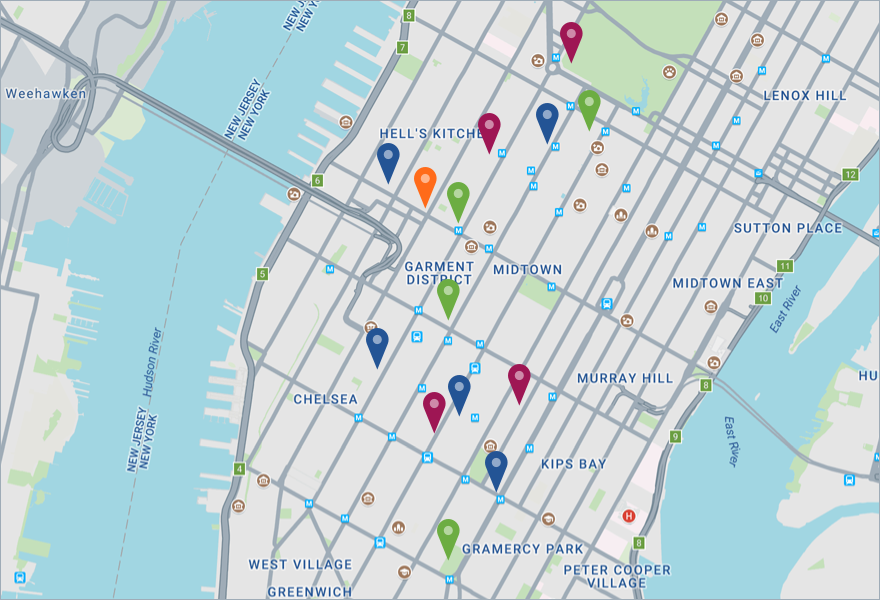 Express Bus Nyc Map.Direct Executive Class Bus Service To New York City Tickets