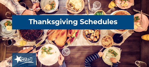 C&J 2018 Thanksgiving Schedules