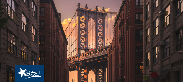 Brooklyn Bridge in Dumbo, NYC