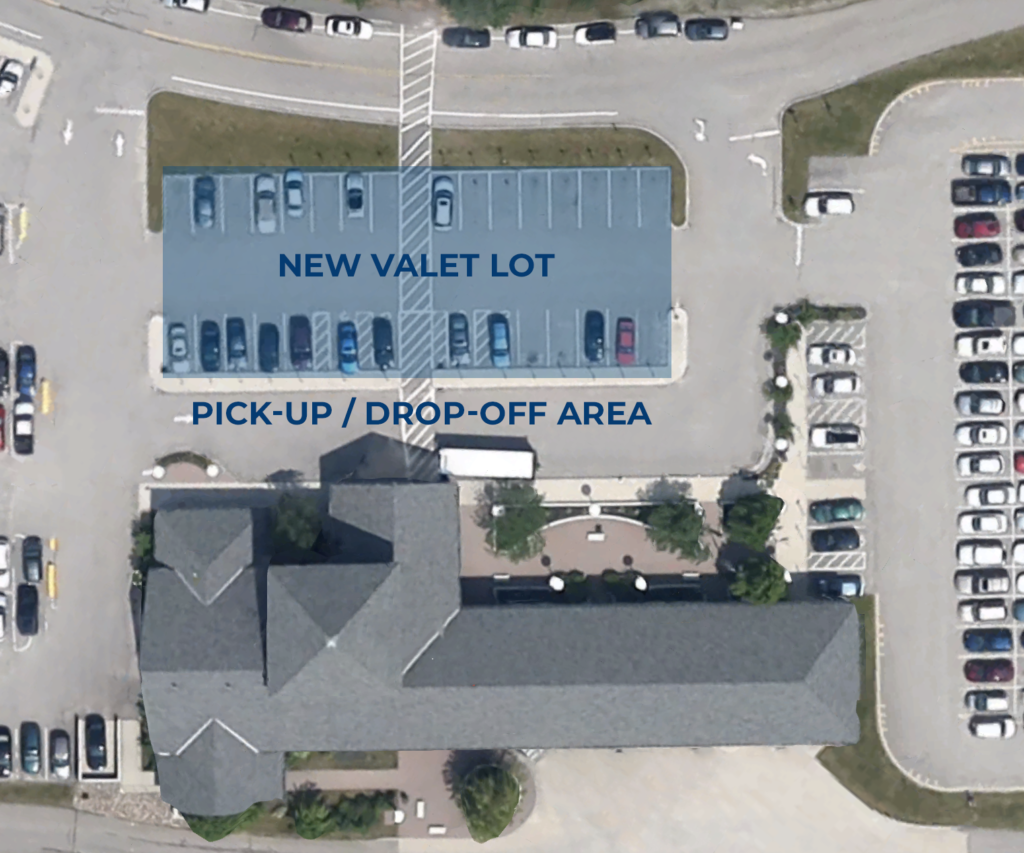 New Parking Layout - Near Terminal valet parking and short term