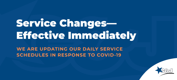 Service Changes - Effective Immediately