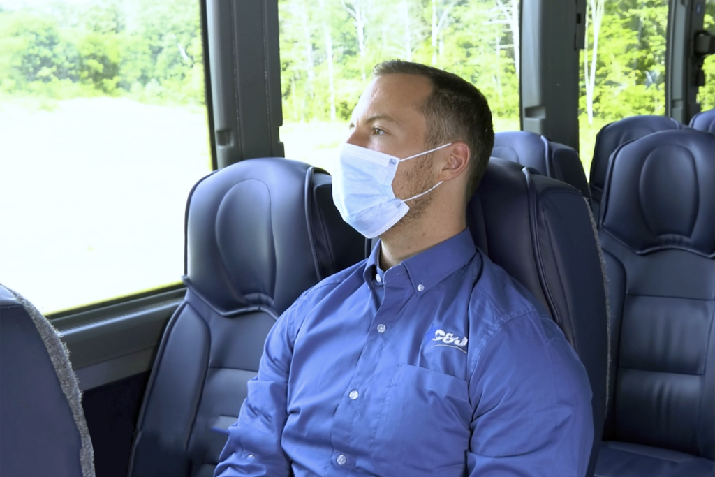 Masks Are Required on all C&J Coaches